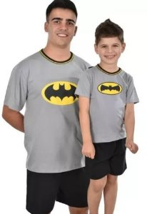 Kit 2 Pijama Pai E Filho Batman Curto Verão