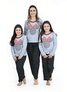 Kit 2 Pijamas Feminino Minnie - Mãe E Filha