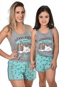 Kit 2 Baby Doll bulldog mãe e filha feminino
