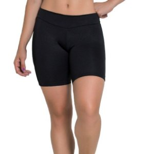 Bermudinha Lisa Fitness Suplex Preta Feminina