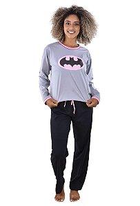 Pijama longo batgirl feminino adulto