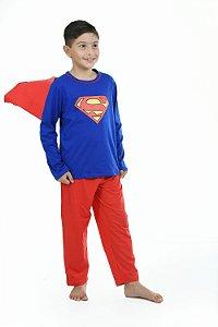 Pijama super homem longo infantil
