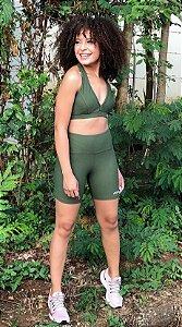 Conjunto Fitness Verde Escuro