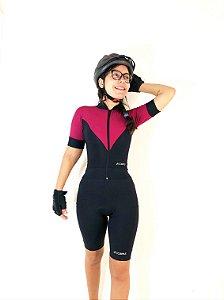 Blusa Ciclismo Preta e Vinho