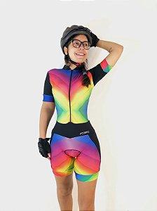 Macaquinho Ciclismo Tie Dye