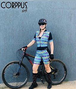 Macaquinho Ciclismo Quadriculado