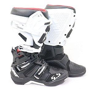 Bota Leatt Gpx 5.5 Preta Branca Trilha Motocross Enduro