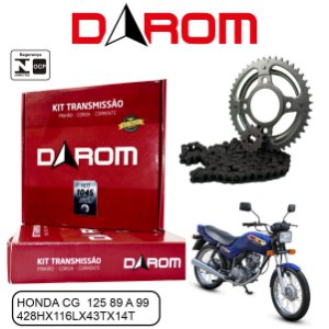 KIT TRANSMISSAO RELACAO DAROM HONDA TITAN 125
