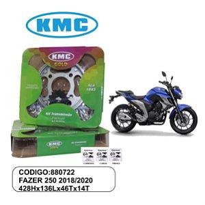 KIT TRANSMISSAO RELACAO KMC GOLD FAZER 250