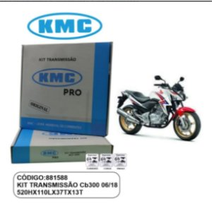KIT TRANSMISSAO RELACAO KMC PRO HONDA CB300R