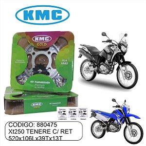 KIT TRANSMISSAO RELACAO KMC GOLD XT250 TENERE