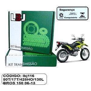 KIT TRANSMISSAO LBJ RELACAO BROS 150 06-13 COM RETENTOR