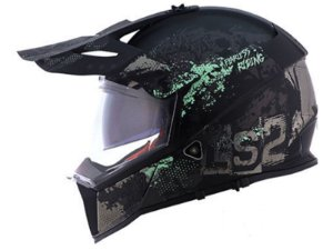 Capacete LS2 MX436 Pionner Evo Fearless Matte Black grey