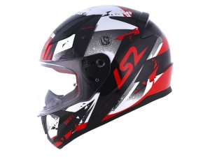 Capacete LS2 FF353 Rapid Grow Black Silver Red
