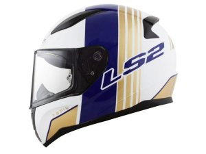 Capacete LS2 FF353 Rapid Multiply White Blue  Gold