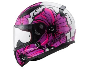 Capacete LS2 FF353 Rapid Poppies White/pink 54