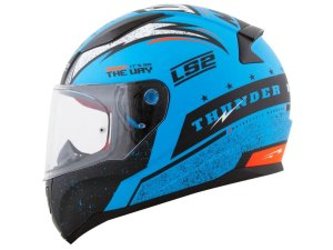Capacete LS2 FF353 Rapid Thunder Matt Blue black orange