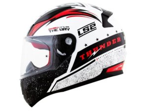 Capacete LS2 FF353 Rapid Thunder White black red