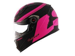 Capacete LS2 FF358 Fluo Matte Black  Pink