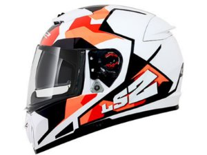 Capacete LS2   FF390 Breaker Sergent White red orange