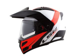 Capacete LS2 FF324 Metro Evo Rapid White Red