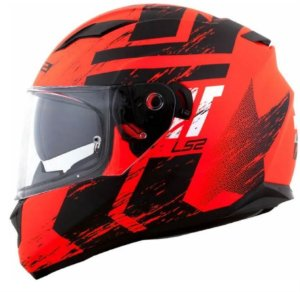 Capacete LS2 FF320 Stream Hunter Matte Orange Black