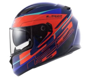 CAPACETE LS2 FF320 STREAM IXEL BLUE ORANGE
