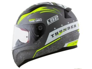Capacete LS2 FF353 Rapid Thunder Matte Grey white yellow