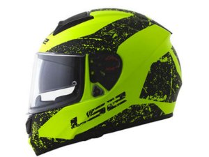 Capacete LS2 FF397 Vector Evo Sing Matte Black yellow