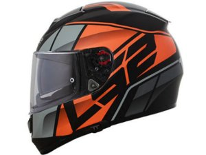 Capacete LS2 Ff397 Vector FT2 Kripton Matte Black Orange