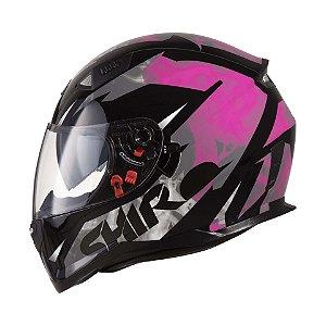 Capacete Shiro Sh-881sv Aerodinamic Rosa Cinza