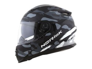 CAPACETE NORISK FF302 DESTROYER MATTE BLACK  WHITE