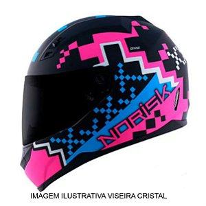 Capacete Norisk FF391 Pixel Matte Black Blue Pink