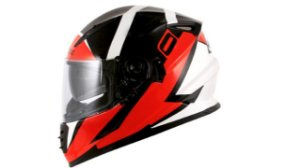 Capacete Norisk FF302 Ridic Black White Red