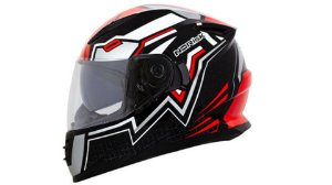 Capacete Norisk  FF302 Wizard Black Red Silver White