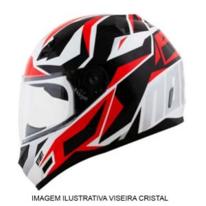 Capacete Norisk FF391 Cutting White Black Red Silver