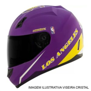 Capacete Norisk FF391 NBA Los Angeles Lakers Roxo