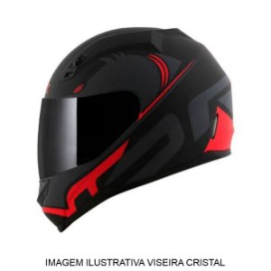 Capacete Norisk FF391 Squalo Matte Black Red