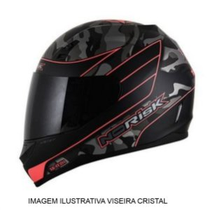 Capacete Norisk FF391 War Matte Black Orange