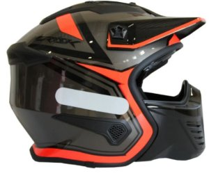 Capacete Norisk Darth Outline Titanium Orange