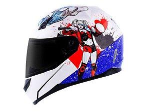 Capacete Norisk FF391 DC Harley Quinn White