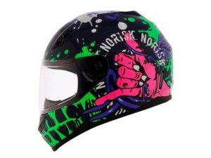 Capacete Norisk FF391 Zombie Blue Green Pink
