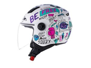 Capacete Norisk Orion Free White Pink