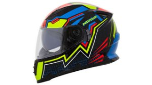 Capacete Norisk FF302 Wizard Black Blue Red Green