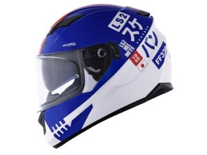 Capacete Ls2 FF320 Stream Sukeban White Blue Red