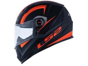 Capacete Ls2 FF358 Sigma Matte Black Fluor Orange