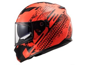 CAPACETE LS2 FF320 STREAM LAVA FLUOR ORANGE  BLACK