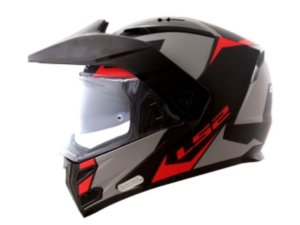 Capacete LS2 FF324 Metro Evo Sub Matt Black Grey Red
