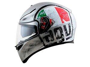 Capacete Agv K3 SV Scudetto Matte Silver