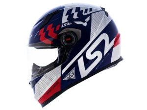 Capacete Ls2 FF358 Podium Blue White Red